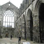 Abbey ruins at Holyroodhouse