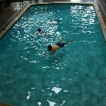 the kids in the indoor pool