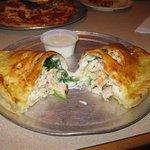 Chicken & Spinach Alfredo Calzone