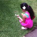 my Keiki Ary enjoying the flora in the gardens
