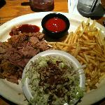 Pulled Pork Platter with Fries and Cole Slaw