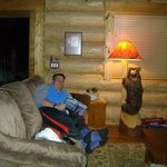 Relaxing at the bear Cabin in Breckenridge Colorado