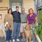 Mary Ann & Brad with Innkeepers Anthony & Marilyn and their beautiful dog, Max.
