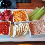 Appetizer-Pimento Cheese, Ham Salad, Cream Cheese/Red Pepper Jam