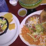 ceviche/ trio tamale relleno taco