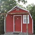 Front door to one of cabins