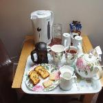 Welcome tea/coffee with cakes & biscuits