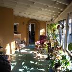 Rear porch area