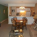Sample living, dining and kitchen photo for 1 bed