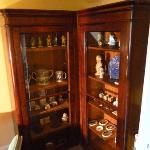 Display cabinet in attic