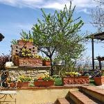 delizioso giardino con vista bellissima