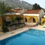 pool viewed from breakfast terrace