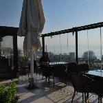 View from breakfast terrace to Bosphorus