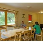 Dining area in bunkhouse