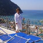 Vista panoramica dalla terrazza dell'Hotel,