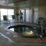 Hot tub at Council Bluffs Country Inn & Suites 3-11-12