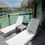 private bungalows deck