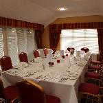 Clyde Room set for a small dinner party