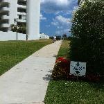 The walkway to the beach