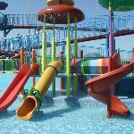 Main slides on splash park