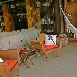 Lounge area overlooking the ocean