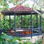 The gazebo, a favorite place to have dinner.
