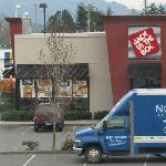 fast food steps away
