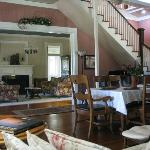 Inn interior is furnished beautifully with antiques