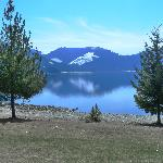 View of Arrow Lake behind the deli