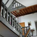 Escaleras de acceso a las habitaciones