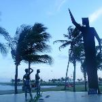 Plaza en playa Atalaia