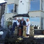 Rob and Vanda with Landlord and Landlady of Aberconwy House