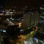 Nightime view from NW corner room window