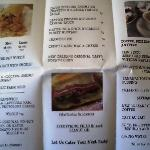 Some the menu....Cajun Kate's