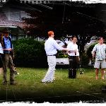 Guests enjoy croquet on the lawn