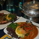 Prawns, Red Curry fish