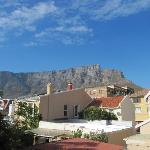 View of Table Mountain from the back of the house