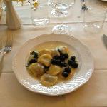 Pigeon Ravioli in White Wine Cream Sauce -- Excellent!