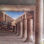 the ancient Cardo, 7 meters below the main street