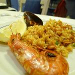 Excellent seafood paella