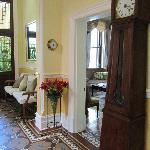 Entrance hall with our original clock