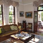 The lounge accessing the dining room