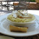 Chicken Alfredo with Harvest Beer