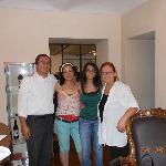 antonio con moglie, stefania e la fantastica cuoca clelia