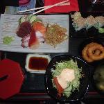 A sashimi teishoku