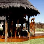 Thatched outside dining area