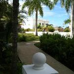 A view towards the Infinity Pool & Fountain