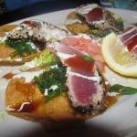 Ahi Tostadas (i believe??) --We also had the Seared Ahi which was equally great.