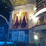 Box seat in theatre. Pic of George Washington in front of the box
