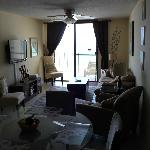 Living room - comfy couch - nice and sunny